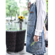 Kid Adult Blue Denim Bib Apron