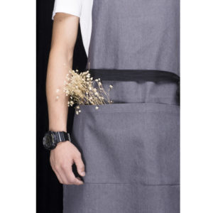 Gris Denim Bib Tablier
