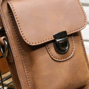 Brown Black PU Holster Bag