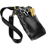Black Brown Barber Tool Pouch