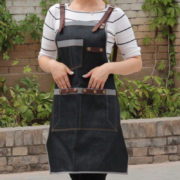 Denim Bib Tablier en Noir