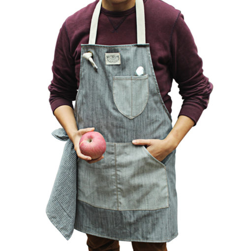 Blue Gray Denim Apron