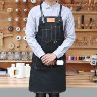 Black Denim Bib Apron