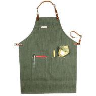 Green Black Denim Apron