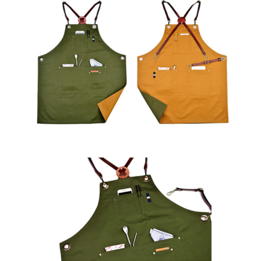 Double Sides Cotton Bib Apron