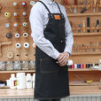 Brown Black Red Gray Canvas Apron