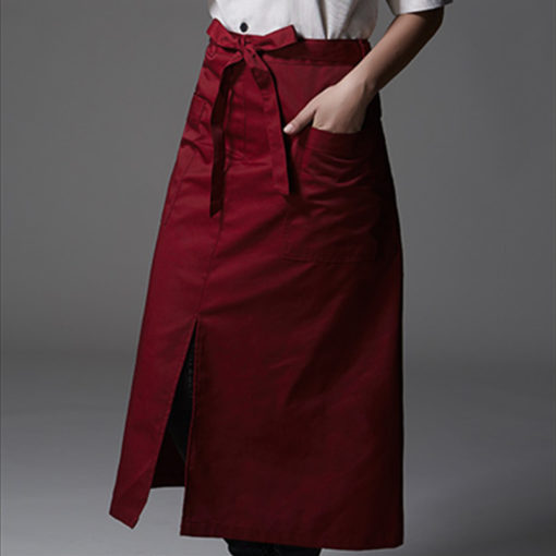 Red White Poly Cotton Waist Apron