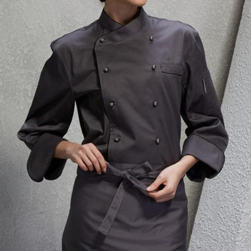 Gray Poly Cotton Long Sleeve Shirt