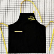 Black Long Canvas Apron