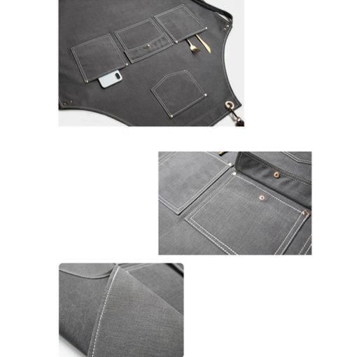 Canvas Bib Apron Leather Cotton Straps