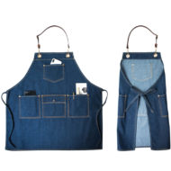 Canvas Bib Apron Leather Cotton Straps