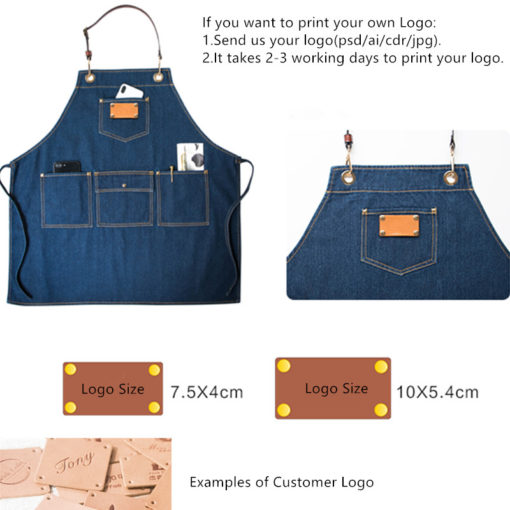 Blue Denim Long Apron