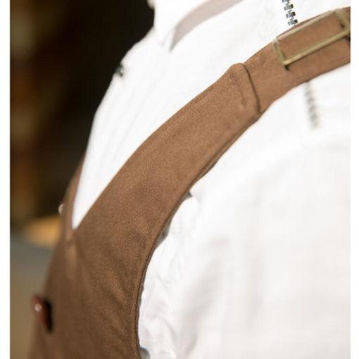 Black Brown Long Cotton Apron