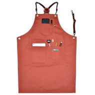 Long Cotton Apron Leather Strap