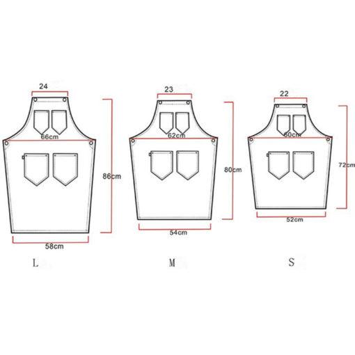Long Cotton Apron Leather Strap