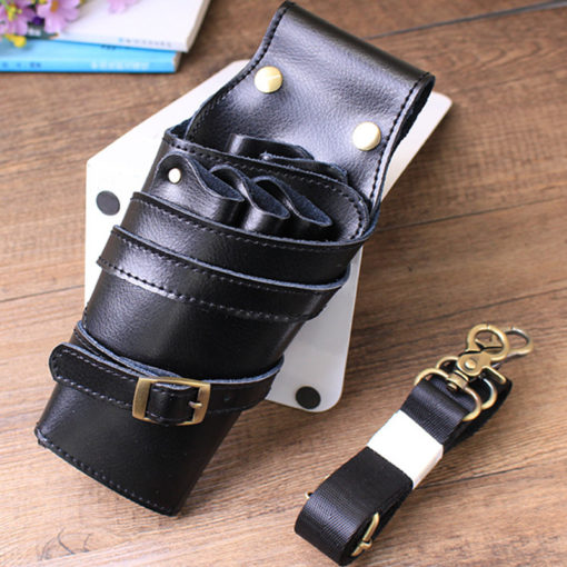Black Brown Barber Leather Holster
