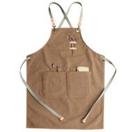 Long Gray Khaki Canvas Apron