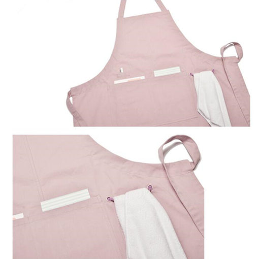 6 Colors Long Cotton Apron. Suitable for Uniform of Barista, Bartender, Baker, Waiter, Waitress, Florist, Painter, Gardener, or Work wear of Salon, Bakery, Cafe, Restaurant, Hotel, Bistro, Pastry shop, Coffee shop, Craft workshop etc.