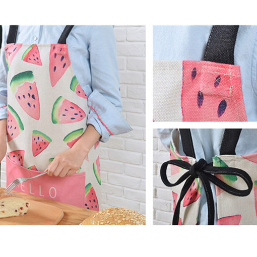 Fruit Cotton Linen Long Apron