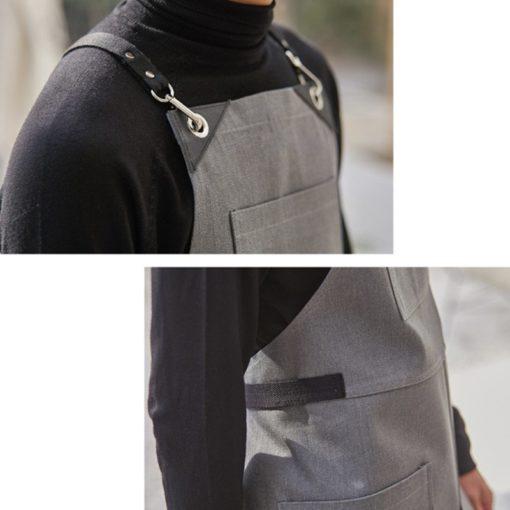Black Denim Apron Cotton Strap