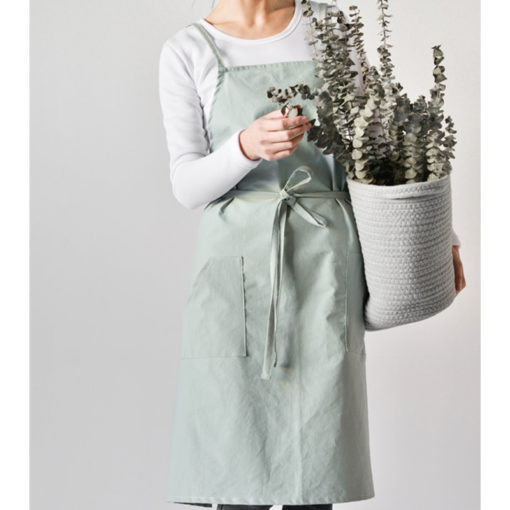 Green Blue Gray Cotton Apron