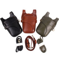 Green Brown Black Barber Leather Holster