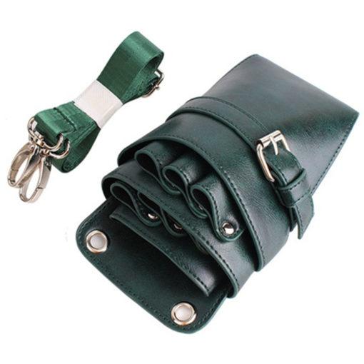 Green Gray Khaki PU Barber Bag