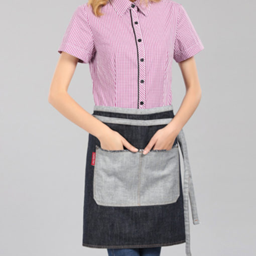Dark Blue Black Denim Waist Apron