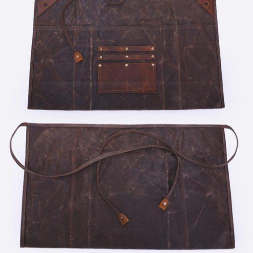 Waxed Canvas Waist Apron Cotton Strap