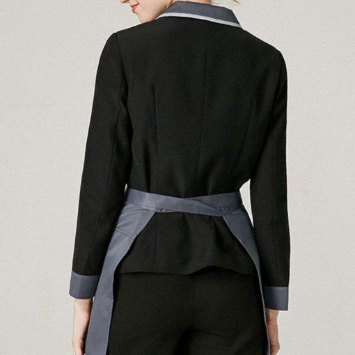 Polyester Cotton Long Sleeve Black Shirt
