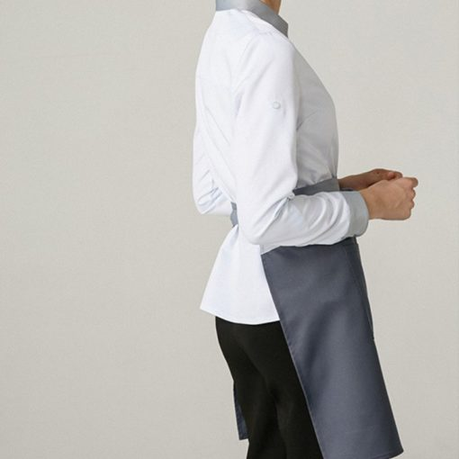 Polyester Cotton Long Sleeve White Shirt