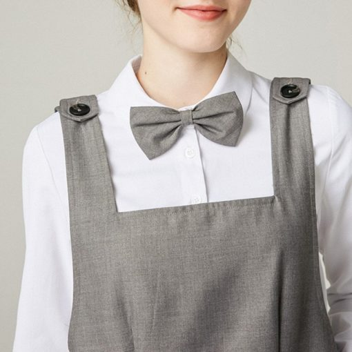 Serge Fabric Long Gray Apron