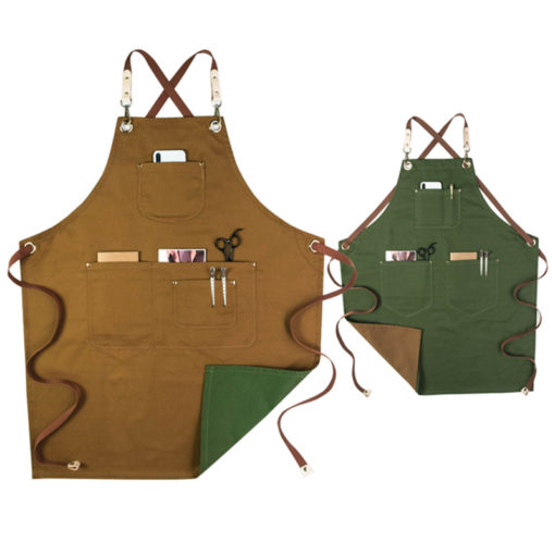 Double Sides Crossback Straps Cotton Apron