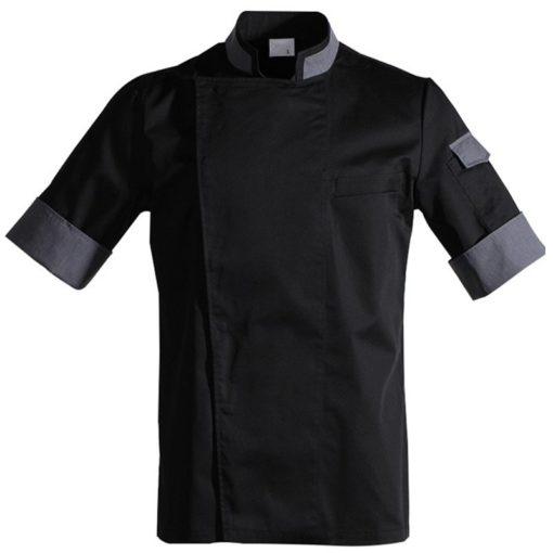 Black White Red Short Sleeve Shirt