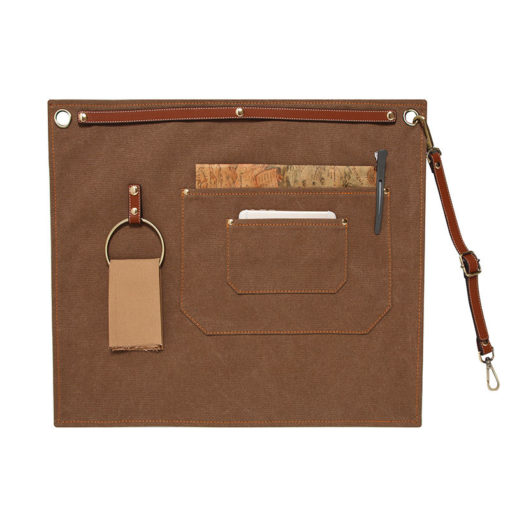 Canvas Denim Waist Apron Leather Strap