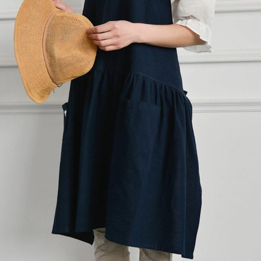 Red Pink Blue Yellow Cotton Linen Apron
