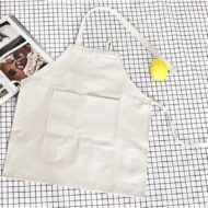 Kids Black White Canvas Bib Apron