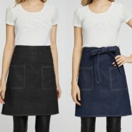 Black Blue Denim Waist Apron