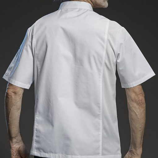 Black White Gray Short Sleeve Summer Chef Shirt
