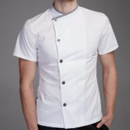 Breathable Polyester Cotton Short Sleeve Chef Shirt