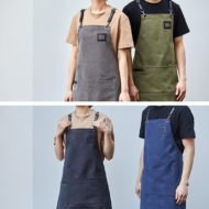 Canvas Apron Crossback Cotton Leather Straps