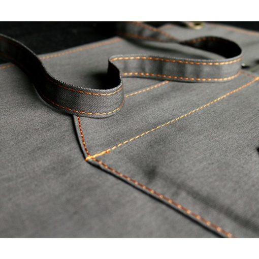 Black Gray Blue Denim Apron Crossback Straps