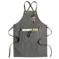 Gray Khaki Canvas Apron Crossback Straps