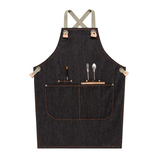 Kids Denim Apron Crossback Straps