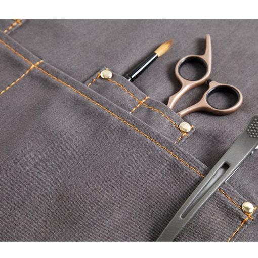 Black Blue Gray Denim Apron Crossback Cotton Strap