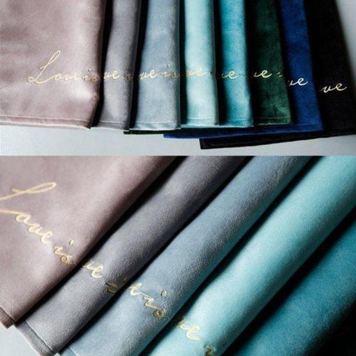 4pcs Green Pink Blue Velvet Table Placemat