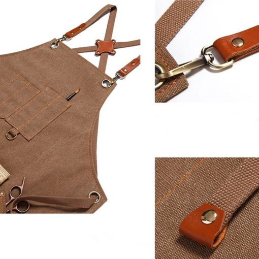 Waterproof Canvas Apron Crossback Straps
