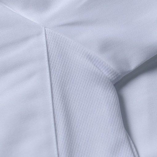 White Black Polyester Cotton Long Sleeve Chef Jacket