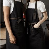 Black Brown Khaki Polyester Cotton Bib Apron