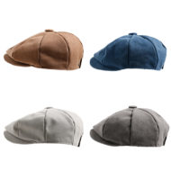 Khaki Hat Gray Cap Blue Canvas Beret